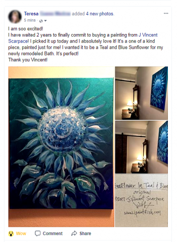 Artist Blog  Customer Gallery Modern Abstract Fish Art Artwork Paintings J Vincent Scarpace
