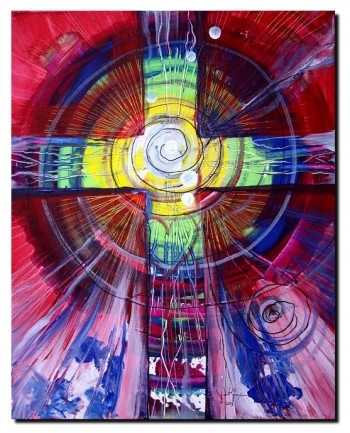 Love from Within Time Spiral  Modern Abstract Fish Art Artwork Paintings J Vincent Scarpace