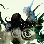 Octopus Ridge  Modern Abstract Fish Art Artwork Paintings J Vincent Scarpace