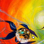 Say Whats Your Favorite Color  Modern Abstract Fish Art Artwork Paintings J Vincent Scarpace
