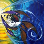 The Kiss  Modern Abstract Fish Art Artwork Paintings J Vincent Scarpace