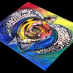World Turtle Seven  Modern Abstract Fish Art Artwork Paintings J Vincent Scarpace
