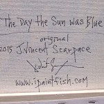 The Day the Sun was Blue  Modern Abstract Fish Art Artwork Paintings J Vincent Scarpace