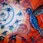 Tempting Joy  Modern Abstract Fish Art Artwork Paintings J Vincent Scarpace