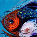 Timid Fish   Modern Abstract Fish Art Artwork Paintings J Vincent Scarpace
