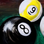 Eight Ball Nine and Cue  Modern Abstract Fish Art Artwork Paintings J Vincent Scarpace