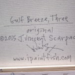 Gulf Breeze Three  Modern Abstract Fish Art Artwork Paintings J Vincent Scarpace