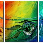 Perfection Three  Modern Abstract Fish Art Artwork Paintings J Vincent Scarpace