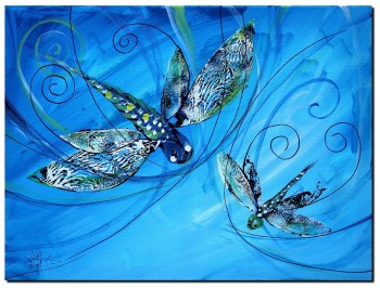 Letting Go  Modern Abstract Fish Art Artwork Paintings J Vincent Scarpace