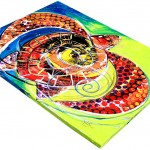 Sunny Day Sea Turtle  Modern Abstract Fish Art Artwork Paintings J Vincent Scarpace