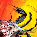 Abstract Blue Crab  Modern Abstract Fish Art Artwork Paintings J Vincent Scarpace