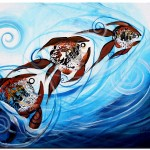 Positive Position  Modern Abstract Fish Art Artwork Paintings J Vincent Scarpace