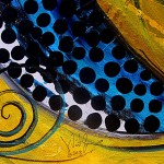 Sea Turtle Love   Modern Abstract Fish Art Artwork Paintings J Vincent Scarpace