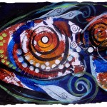 Study for Fish p.  Modern Abstract Fish Art Artwork Paintings J Vincent Scarpace