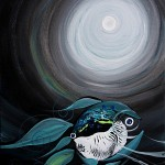 Moonlight for Two Nuovamente  Modern Abstract Fish Art Artwork Paintings J Vincent Scarpace
