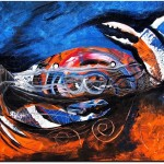 Abstract Crab   Modern Abstract Fish Art Artwork Paintings J Vincent Scarpace