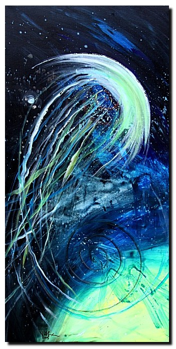 Abstract Jelly Fish   Modern Abstract Fish Art Artwork Paintings J Vincent Scarpace