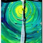Faith Day and Night  Modern Abstract Fish Art Artwork Paintings J Vincent Scarpace