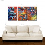 Flirting with the Sun Ray   Modern Abstract Fish Art Artwork Paintings J Vincent Scarpace