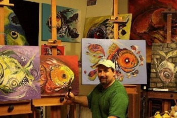 Artist Blog  Inspirations Abstract Fish Art Artwork Paintings J Vincent Scarpace