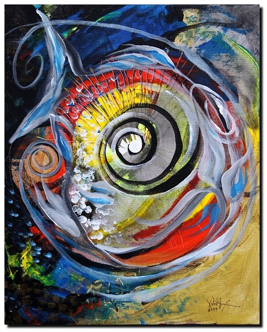 Non Cohesive Catfish  Modern Abstract Fish Art Artwork Paintings J Vincent Scarpace
