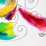 Scribbled Rainbow   Modern Abstract Fish Art Artwork Paintings J Vincent Scarpace
