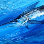 Striped Marlin  Modern Abstract Fish Art Artwork Paintings J Vincent Scarpace