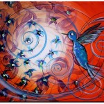 Palpable Perpetuity  Modern Abstract Fish Art Artwork Paintings J Vincent Scarpace