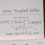 Over Troubled Water  Modern Abstract Fish Art Artwork Paintings J Vincent Scarpace