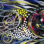 Tendriled Thoughts Spiraling Worries Fish  Modern Abstract Fish Art Artwork Paintings J Vincent Scarpace