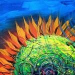 Sweet Blue Sun Flower  Modern Abstract Fish Art Artwork Paintings J Vincent Scarpace