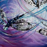 Two Brings One  Modern Abstract Fish Art Artwork Paintings J Vincent Scarpace