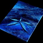 Sea Star Blue  Modern Abstract Fish Art Artwork Paintings J Vincent Scarpace