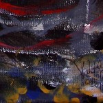 Bi Polar Hangings Fishing in the Darkness  Modern Abstract Fish Art Artwork Paintings J Vincent Scarpace