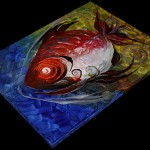 Fire Fin   Modern Abstract Fish Art Artwork Paintings J Vincent Scarpace