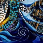 Princess Kopasetic  Modern Abstract Fish Art Artwork Paintings J Vincent Scarpace