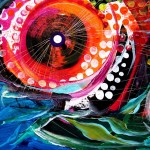 Double Mouthed Disco Fish  Modern Abstract Fish Art Artwork Paintings J Vincent Scarpace