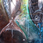 Ying Yang  Yahweh  Modern Abstract Fish Art Artwork Paintings J Vincent Scarpace