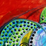 Turtle Point Two  Modern Abstract Fish Art Artwork Paintings J Vincent Scarpace