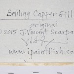 Smiling Copper Gill  Modern Abstract Fish Art Artwork Paintings J Vincent Scarpace