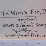 J.V. Wishn Fish IV  Modern Abstract Fish Art Artwork Paintings J Vincent Scarpace