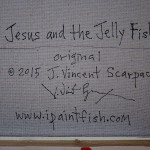 Jesus and the Jelly Fish  Modern Abstract Fish Art Artwork Paintings J Vincent Scarpace