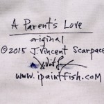 A Parents Love  Modern Abstract Fish Art Artwork Paintings J Vincent Scarpace