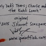 My Dads Tears Charlie and the Kuhli Loach  Modern Abstract Fish Art Artwork Paintings J Vincent Scarpace