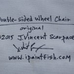 Double sided Wheel Chair  Modern Abstract Fish Art Artwork Paintings J Vincent Scarpace