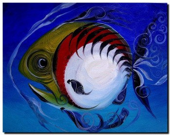 Fifty Six Fish  Modern Abstract Fish Art Artwork Paintings J Vincent Scarpace