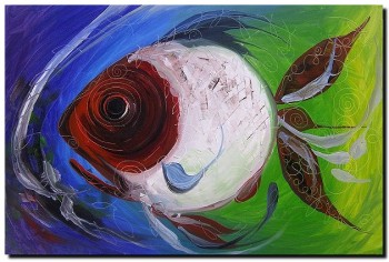 Forty One Fish  Modern Abstract Fish Art Artwork Paintings J Vincent Scarpace