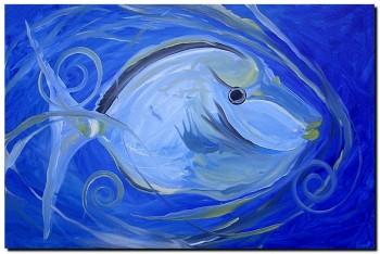 Loose Naso Tang  Modern Abstract Fish Art Artwork Paintings J Vincent Scarpace