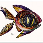Benedict Fish the Sixteenth  Modern Abstract Fish Art Artwork Paintings J Vincent Scarpace