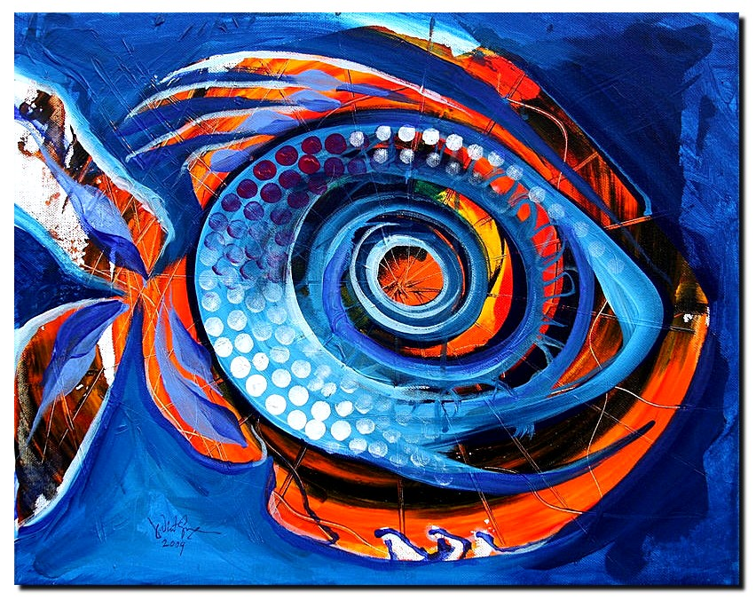 Chupacabra Fish  Modern Abstract Fish Art Artwork Paintings J Vincent Scarpace
